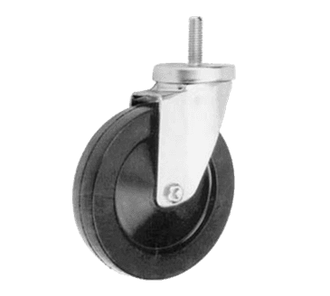"FMP 120-1060 Medium-Duty 4"" Threaded Stem Caster Gray non-marking wheel"