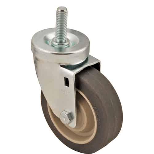 """FMP 120-1060 Medium-Duty 4"""" Threaded Stem Caster Gray non-marking wheel"""