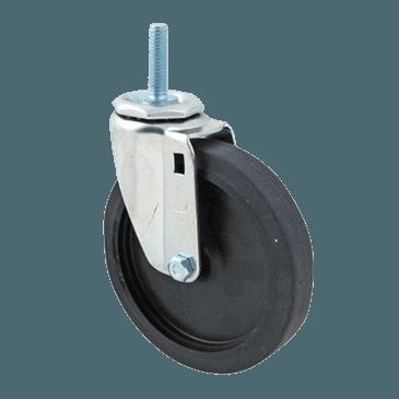"FMP 120-1149 Standard-Duty 5"" Threaded Stem Caster Black plastic hub"