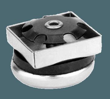 "FMP 121-1024 Metal 1-1/8"" Base Boot Glide For 1"" OD square tubular leg"