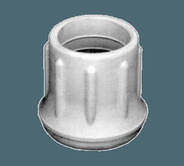 "FMP 121-1045 White Rubber Crutch Tip For 7/8"" OD tubing"