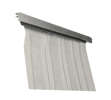 FMP 124-1451 Wall Mount Strip Curtain Includes 10 strips  hardware