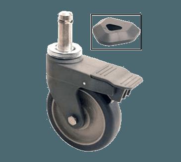 "FMP 126-3220 Metromax Q/Metromax i Stem Caster by Metro 5"" stem polymer caster with brake (300lb)"