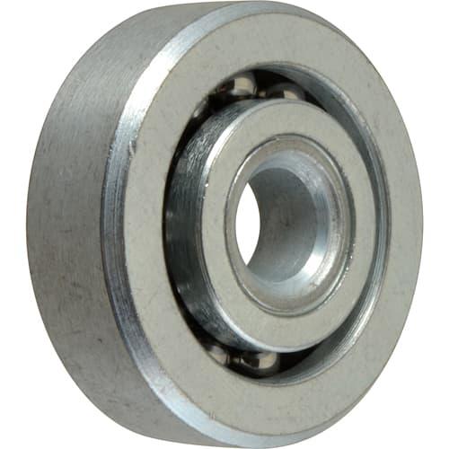 "FMP 132-1005 Zinc-Plated Steel Roller Roller is countersunk for 1/4"" flat head machine screw"