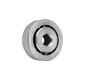 "FMP 132-1008 Zinc-Plated Steel Concave Roller Roller is countersunk for 1/4"" flat head machine screw"