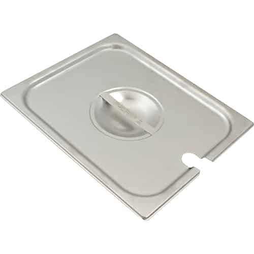 FMP 133-1642 Super Pan V Slotted Table Pan Cover by Vollrath Half-size with notch