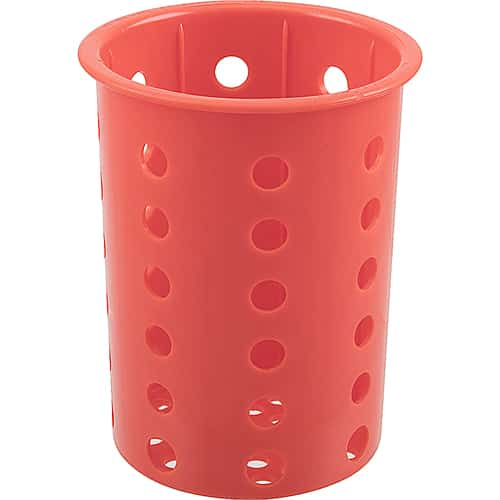 """FMP 137-1663 Flatware Cylinder by Steril-Sil Red  designed to fit a 4"""" diameter cutout"""