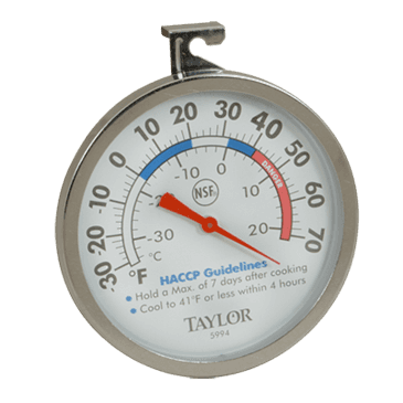 FMP 138-1305 Refrigerator/Freezer Thermometer by Taylor -30* to 70*F operating temperature