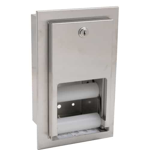 FMP 141-1089 Reserve Roll Toilet Tissue Dispenser by Bradley Recess mounted