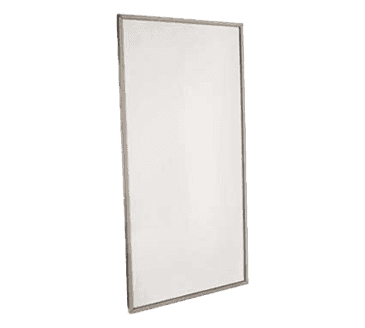"FMP 141-2096 Framed Mirror 36"" H x 18"" W  stainless steel frame"