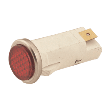 FMP 149-1027 Flat Lens Indicator Light Red lens