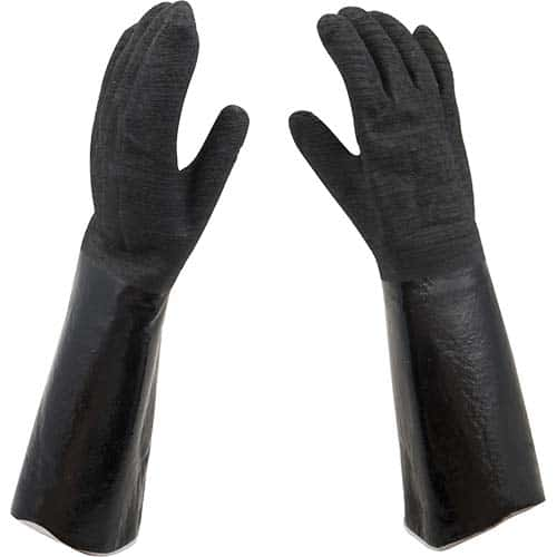 "FMP 150-6121 High Temperature Neoprene Gloves by San Jamar 17"" overall length  sold by the pair"