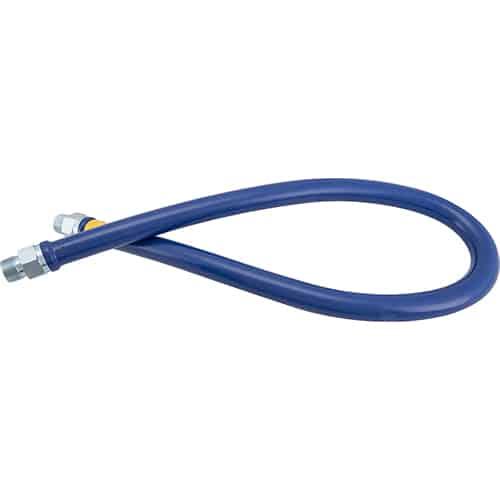 """FMP 157-1067 Blue Hose Heavy-Duty Gas Hose with PVC Coating by Dormont 1"""" NPT x 60"""" L"""