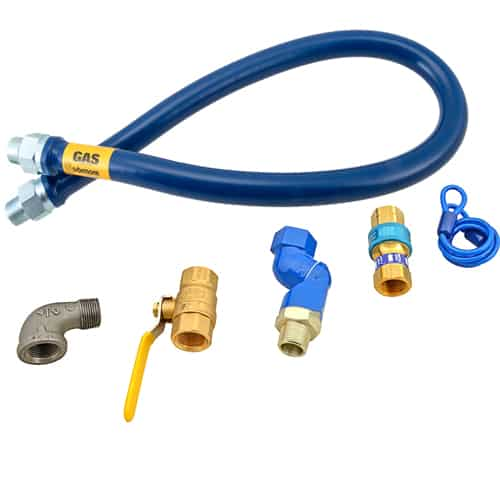 "FMP 157-1082 Blue Hose Gas Connector Kit by Dormont 3/4"" NPT x 48"" L"