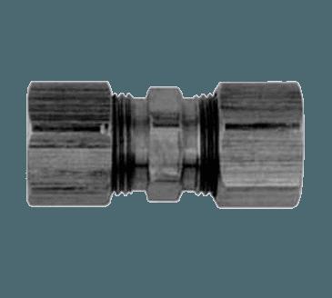"""FMP 158-1036 Brass Coupling 1/2"""" OD tubing"""