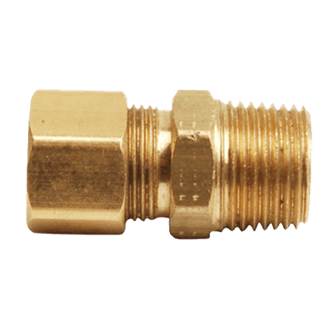"FMP 158-1081 Brass Male Connector 7/16"" OD tubing x 3/8"" NPT"
