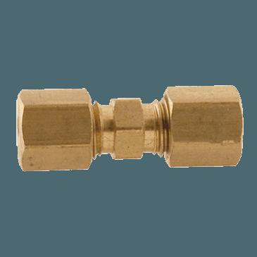"""FMP 158-1149 Brass Coupling 1/8"""" OD tubing"""