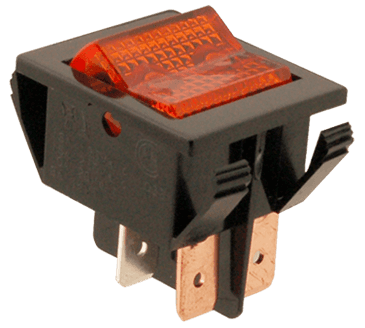 FMP 160-1082 On/Off Switch Red lens