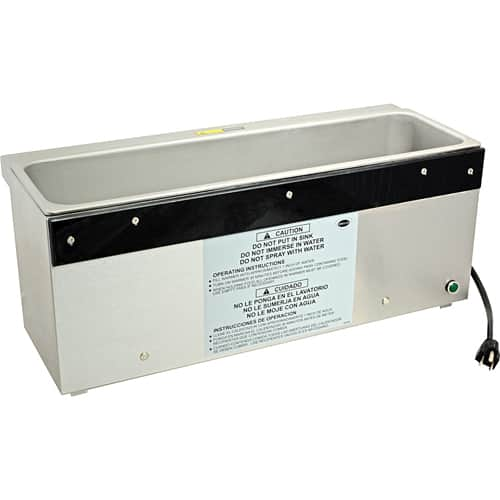 """FMP 173-1147 Countertop Warmer by Wells Fits 2 fourth-size or 3 sixth-size pans up to 6"""" deep"""
