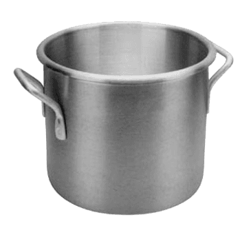 "FMP 215-1277 Aluminum Stock Pot by Vollrath/Wear-Ever 20 qt  12"" diameter"