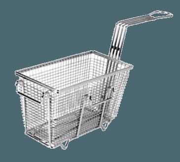 "FMP 225-1005 Fryer Basket with Feet 9-3/8"" L x 4-3/4"" W x 5-3/8"" HLeft/front hook"