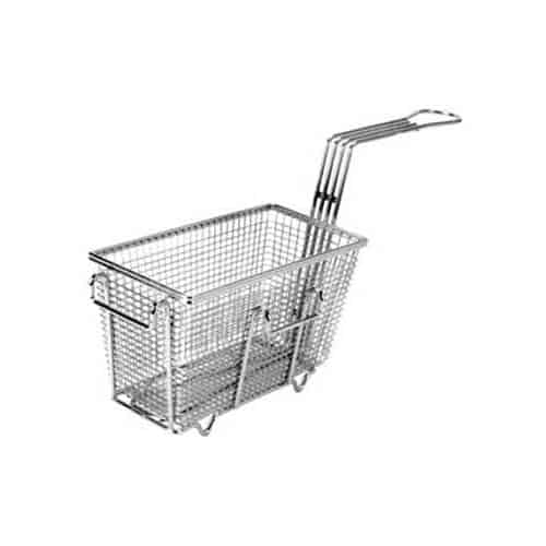 "FMP 225-1005 Fryer Basket with Feet 9-3/8"" L x 4-3/4"" W x 5-3/8"" HLeft/front hook"