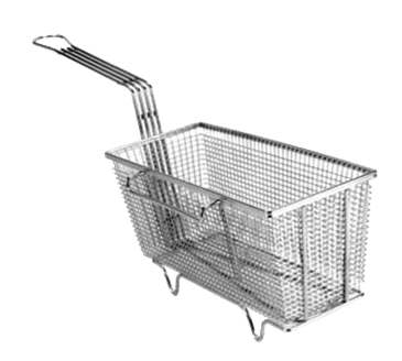 "FMP 225-1006 Fryer Basket with Feet 13-1/4"" L x 5-5/8"" W x 5-3/4"" HRight hook"