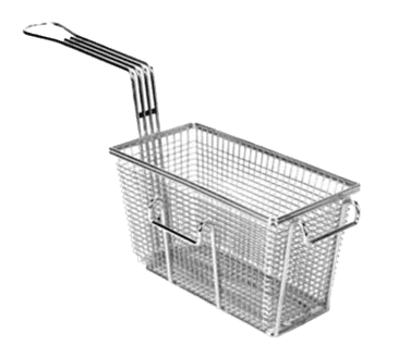 "FMP 225-1019 Standard Fryer Basket 9-3/8"" L x 4-7/8"" W x 5-3/8"" HRight/front hook"