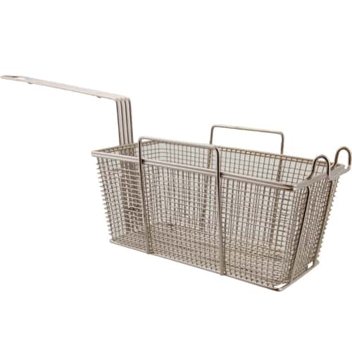 "FMP 225-1031 Standard Fryer Basket 12"" L x 6-3/8"" W x 5-3/8"" H Right and left handles with rear stand-off support"