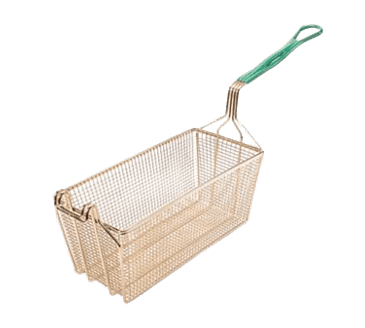 "FMP 225-1070 E-Z Grip Plus Fryer Basket with Vinyl-Coated Handle 13-1/4"" L x 6-1/2"" W x 6"" HDouble front hook"