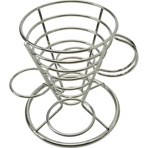 FMP 226-1141 Appetizer Basket Include 3 dipping sauce holders and handle