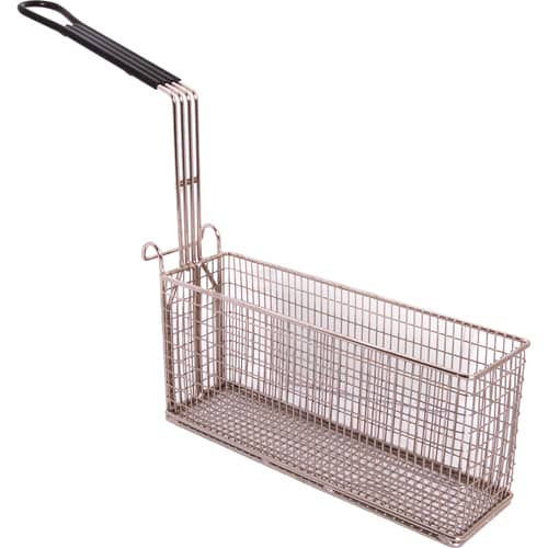 "FMP 227-1053 Fryer Basket with Vinyl-Coated Handle 13"" L x 4"" W x 6"" HRear hook"