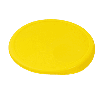 FMP 262-1166 Round Food Storage Container Lid by Rubbermaid Yellow plastic