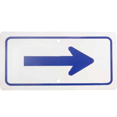 """FMP 280-1197 Arrow Sign 6"""" x 12"""""""