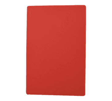 "FMP 280-1258 Color-Coded Cutting Board 12"" x 18"" red"