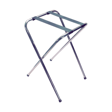 "FMP 280-1346 Tray Stand 29"" high  chrome-plated tubular steel"