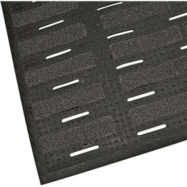 """FMP 280-1925 MightyMat Max II Floor Mat by Shoes for Crews 3' x 4' x 1/2"""" thick"""
