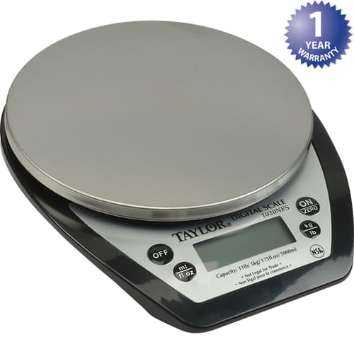 FMP 280-2102 Digital Scale by Taylor Measures dry and liquid ingredients