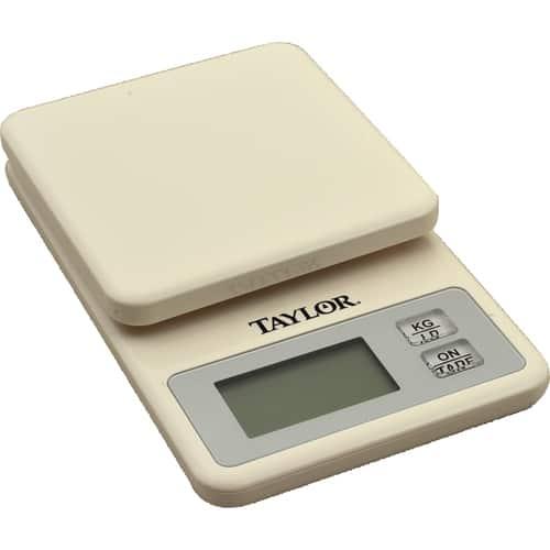 FMP 280-2105 Mini Digital Kitchen Scale by Taylor White plastic