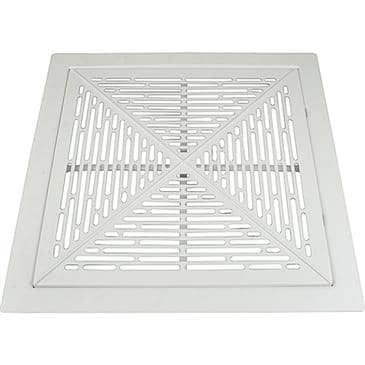 """FMP 556-1187 Filtered Cold Air Return with Slotted Cover without Body by Eger 24"""" x 24"""" return with 20"""" x 20"""" open back/pleated filter"""