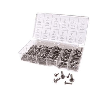 FMP 799-1001 Medium Length Stainless Steel Machine Screw Kit Truss head phillips head screws