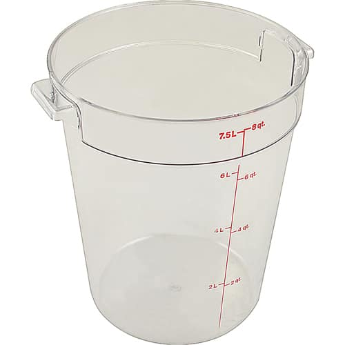 FMP 840-5048 CONTAINER (8 QT  CLEAR)