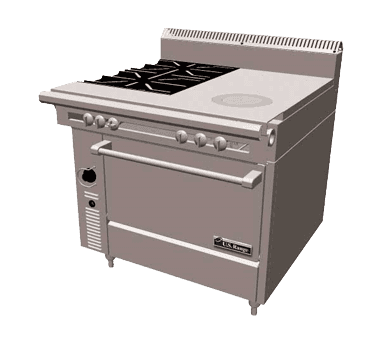 Garland/US Range Garland US Range C836-17 Cuisine Series Heavy Duty Range