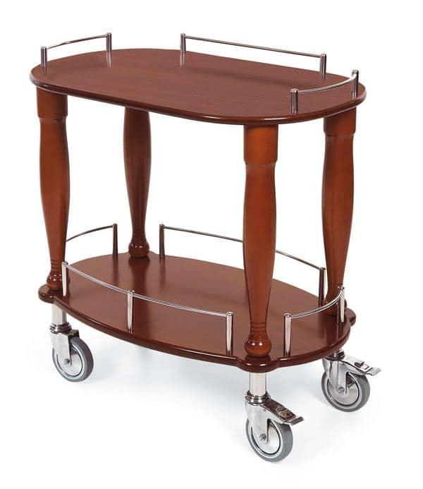 Geneva 70010 Serving Cart-Bordeaux