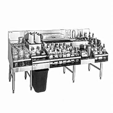 Glastender ALL-60B-CP10 All-In-One Underbar Ice Bin/Cocktail Station