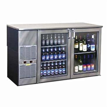 Glastender BB60WR Two-Zone Refrigerated Back Bar Cabinet
