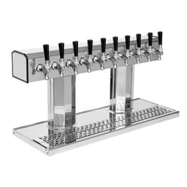 Glastender BT-10-PB Bridge Tee Draft Dispensing Tower