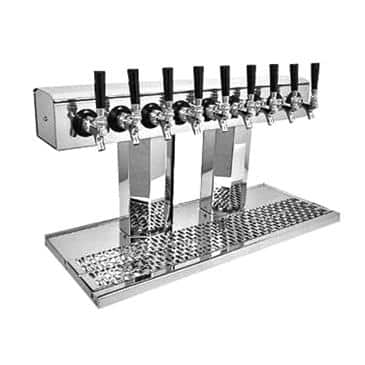 Glastender BT-12-PB Bridge Tee Draft Dispensing Tower