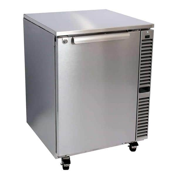 Glastender C1SU24 24'' 1 Section Undercounter Refrigerator with 1 Right Hinged Solid Door and Side / Rear Breathing Compressor