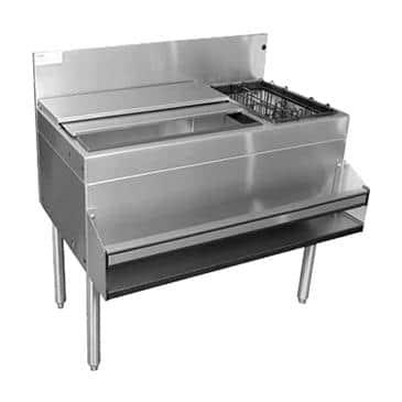 Glastender CBA-48-CP10-ED Extra Deep Underbar Ice Bin/Cocktail Unit